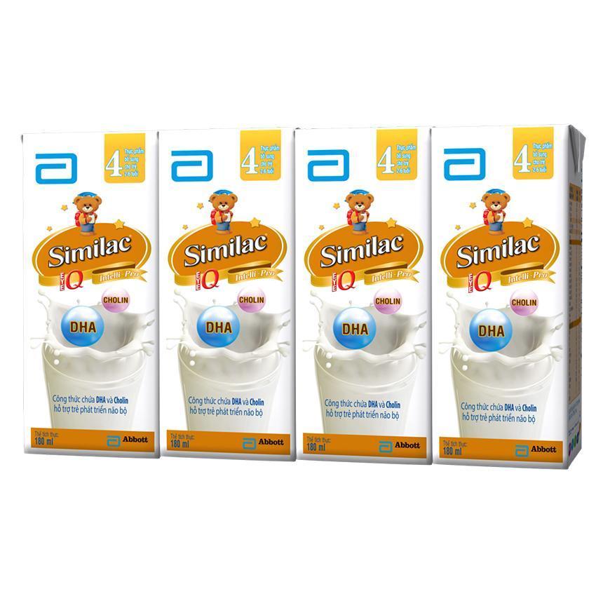 Lốc sữa nước Similac IQ 4 hương vani 180ml