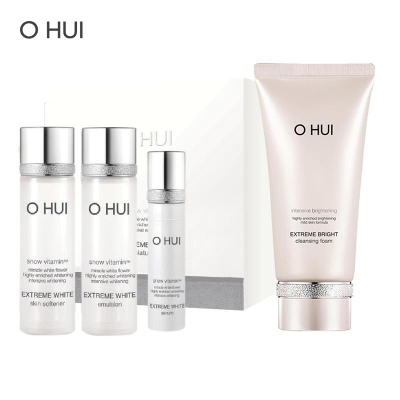 Bộ làm sạch dưỡng trắng OHUI Extreme Bright Foam 160ml và Mini Kit 43ml nhập khẩu