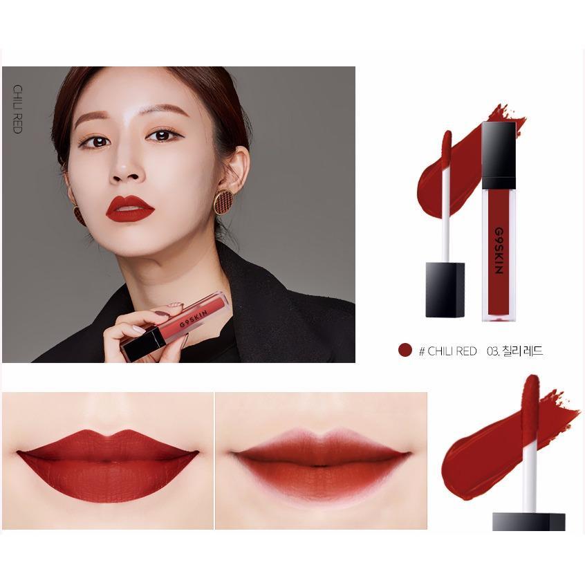 Giá Bán Son Kem Li Cực Lau Troi G9Skin First Lip Matte Lipstick 03 Chili Red Đỏ Gạch