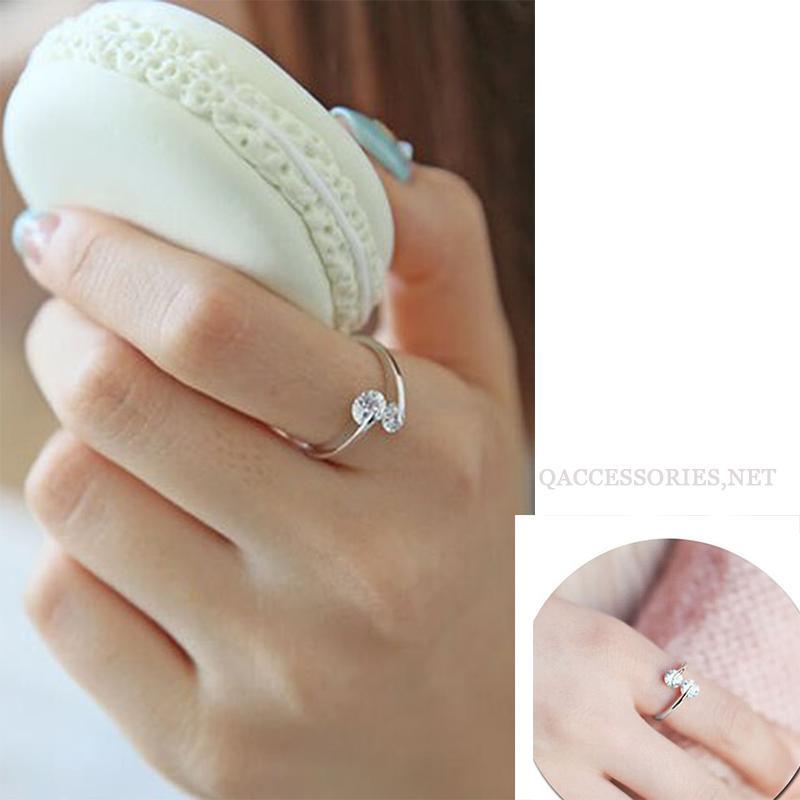 DIAMOND Nhẫn bạc đính đá