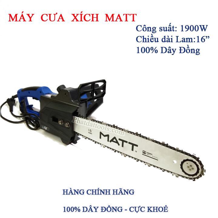 Máy cưa xích chạy điện MATT 405-3 tặng kèm tô vít 4 cạnh