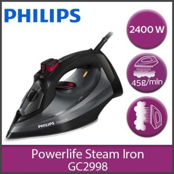 Bàn ủi hơi nước Philips GC2998 (Đen xám) - Dung tích 320ml - Mặt đế SteamGlide - Hàng nhập khẩu - Bảo hành 2 năm