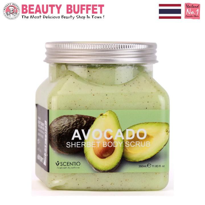 Tẩy tế bào chết toàn thân dưỡng ẩm chiết xuất quả bơ Scentio Avocado 350ml