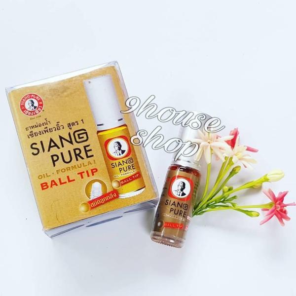 (Gold - Màu Vàng) Dầu nóng Siang Pure Oil 3cc (nội địa Thái Lan)