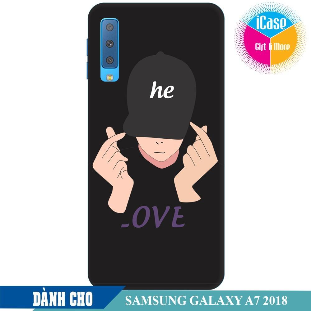 Ốp lưng nhựa dẻo dành cho Samsung Galaxy A7 2018 in hình He Style