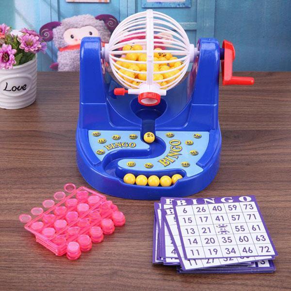 Hình ảnh Bộ đồ chơi quay xổ số Bingo Lotto 90 số 48 thẻ vui nhộn