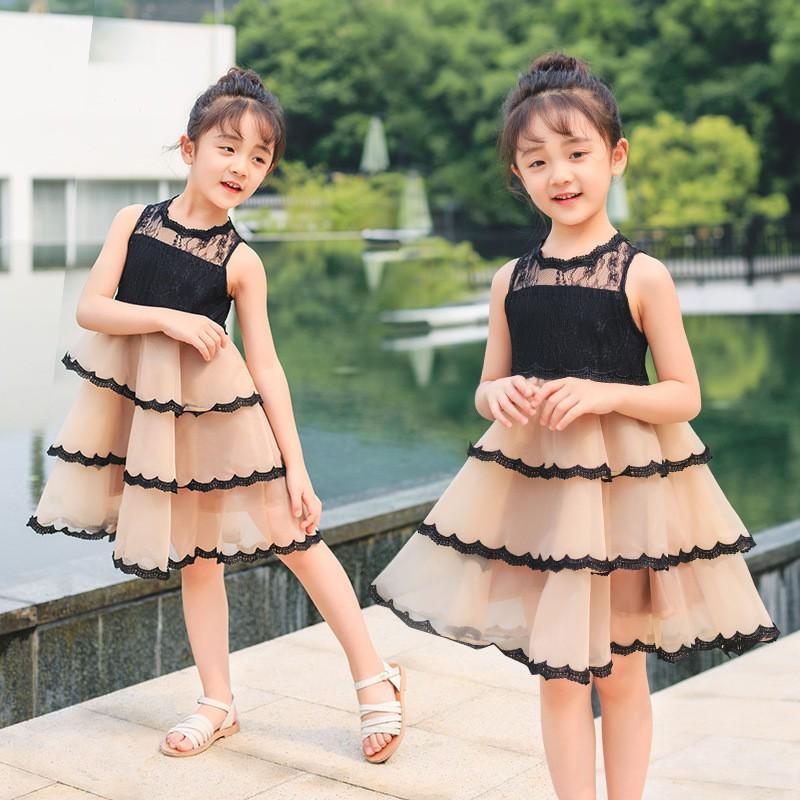 Giá bán [SALE] Váy ren dáng xòe tầng dành cho các nàng công chúa nhỏ