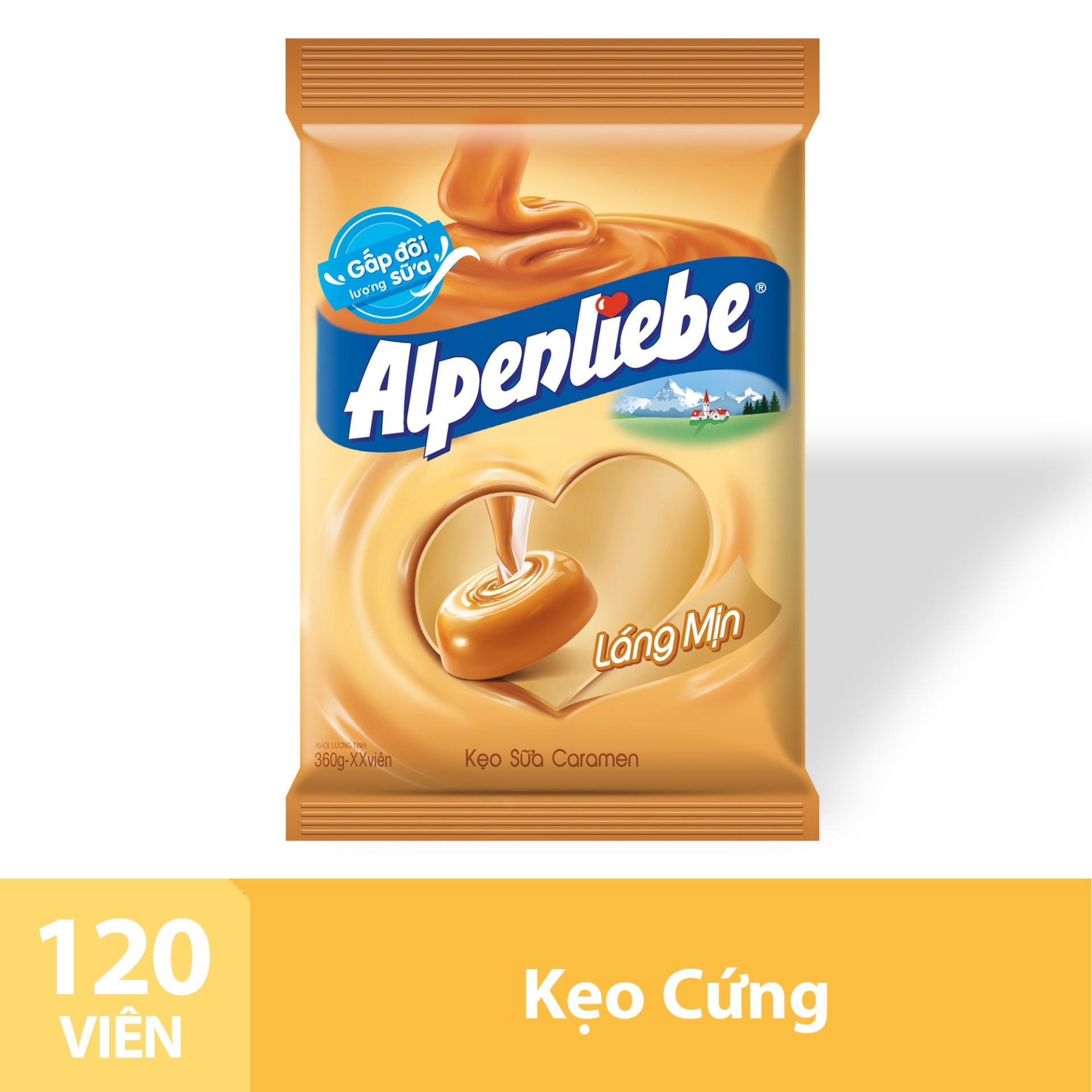 Kẹo Sữa Caramen Alpenliebe Gói 120 Viên Nhật Bản