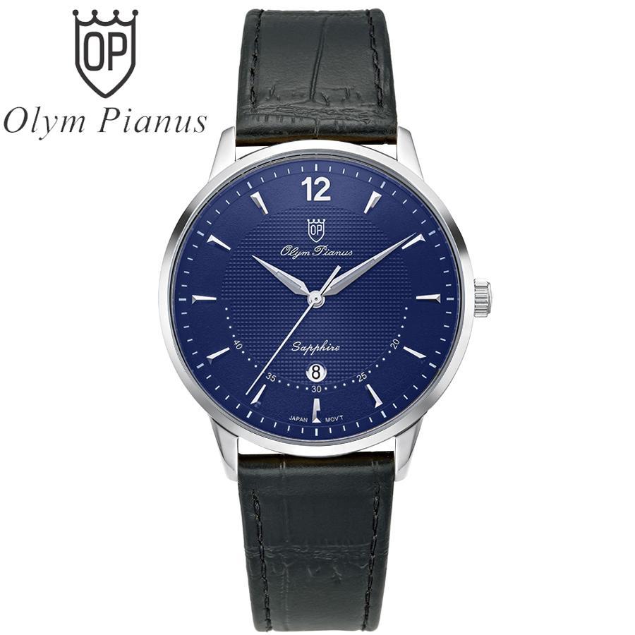 Đồng hồ nam mặt kính sapphire Olym Pianus OP5709MS-GL xanh bán chạy