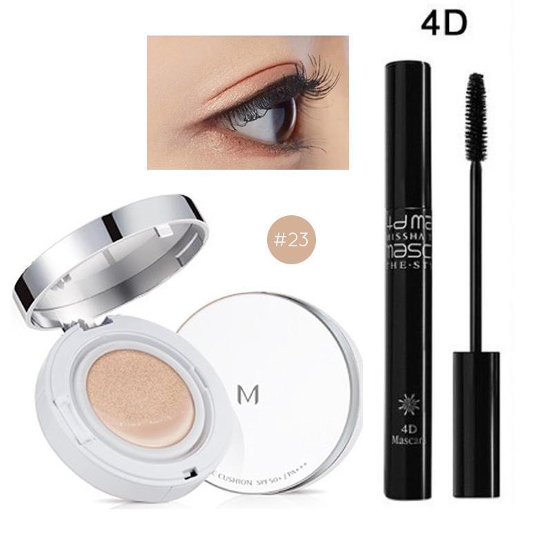 Hình ảnh Combo Phấn nước kiềm dầu Magic Cushion Missha SPF 50+/Pa +++ và Chải Mi Mascara The Style 4D Missha 7g