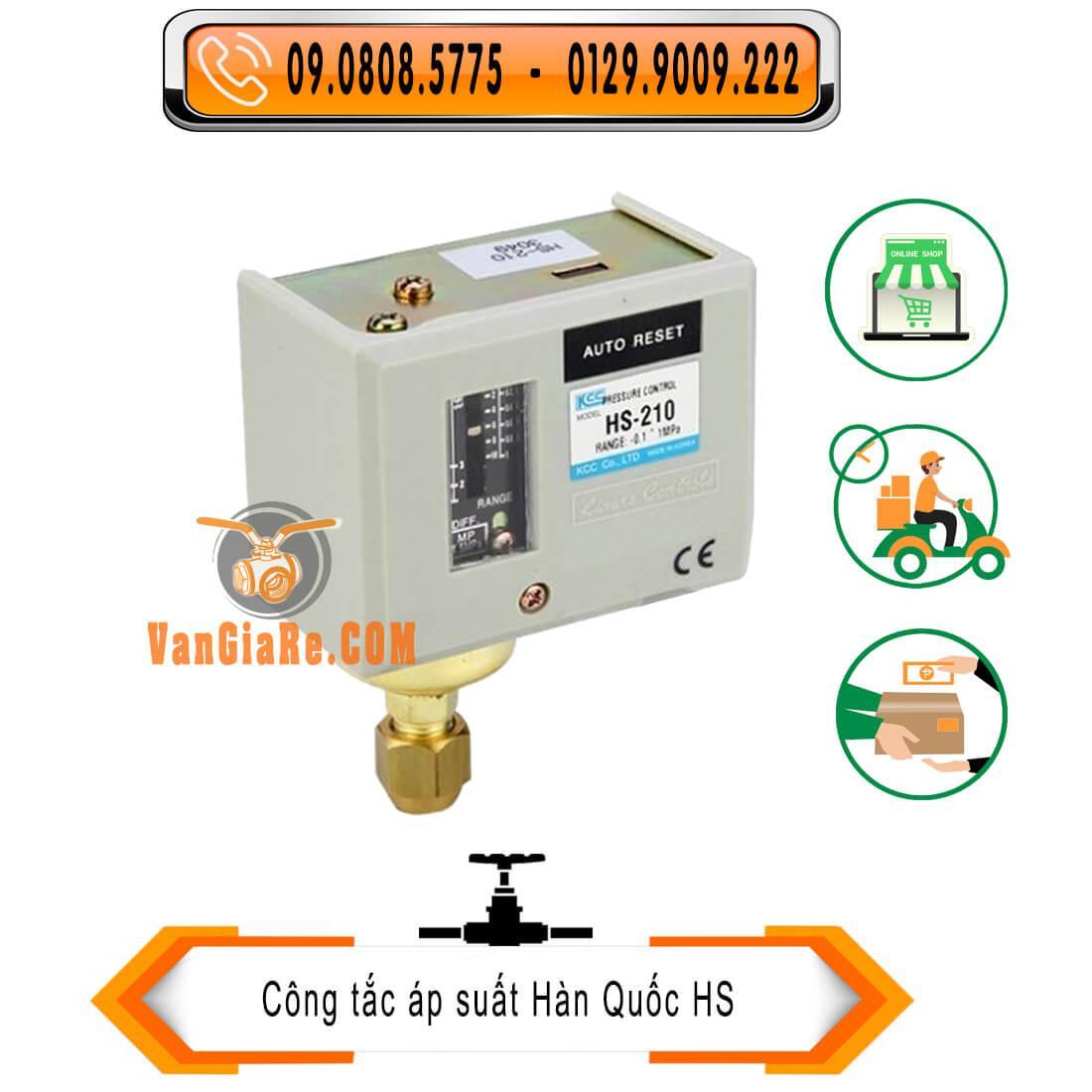 Rơ le áp suất HS-210 10kg Hàn Quốc - công tắc áp suất