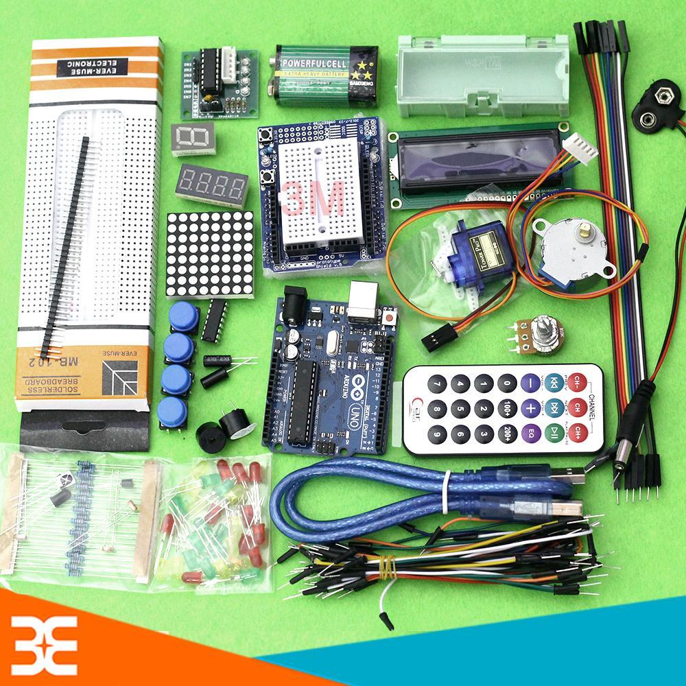 [Có video] [Tp.HCM] Combo Bộ Kit Học Tập Arduino Uno R3 V1 Cơ Bản Cho Người Muốn Tiếp Cận – Bảo Hành 1 Tháng