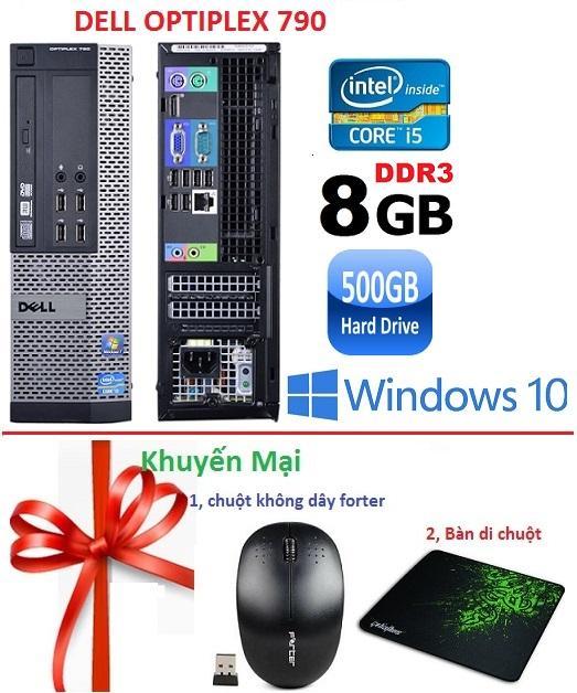 Hình ảnh Máy tính đồng bộ Dell Optiplex 790 core i5 RAM 8GB HDD 500GB -Tặng Chuột không dây , Bàn di chuột, Bảo hành 24 tháng - Hàng Nhập Khẩu