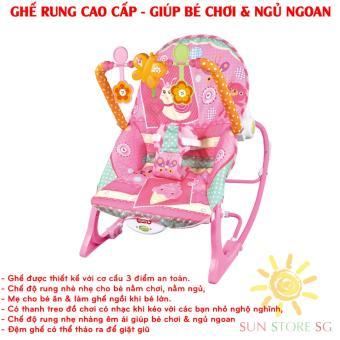 Noi Dien Em Be    Ghế rung Cao Cấp, Rung nhè nhẹ cho bé nằm chơi, nằm ngủ, mẹ cho bé ăn & làm ghế ngồi khi bé lớn   Bảo hành 1 đổi 1 trên hệ thống  SUN Toàn Quốc - Mã BH 268