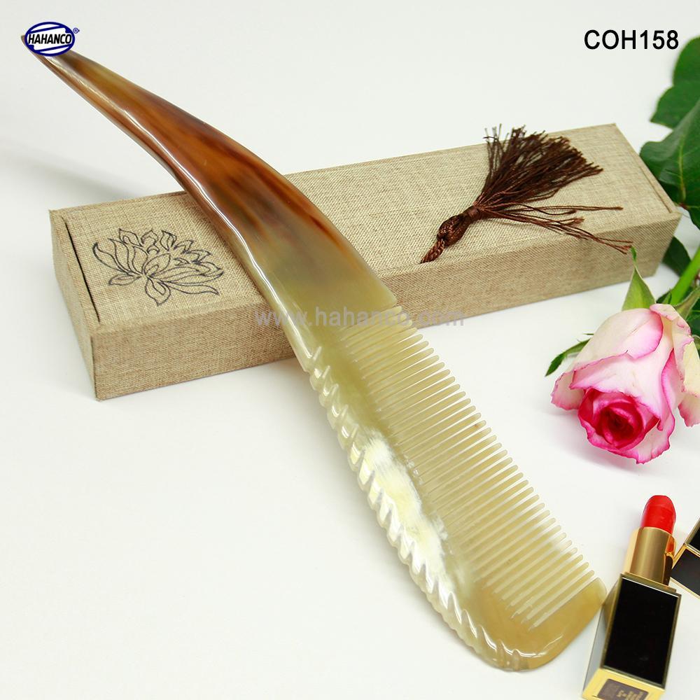 Chiếc Lược sừng khủng nhất - COH158 (Size: XXL - 23-30cm) Được làm từ nửa chiếc sừng bò Châu Phi - Horn Comb of HAHANCO nhập khẩu