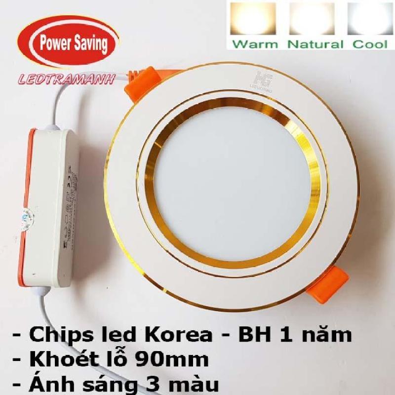 Đèn led âm trần HG 7w 3 màu khoét lỗ 90mm