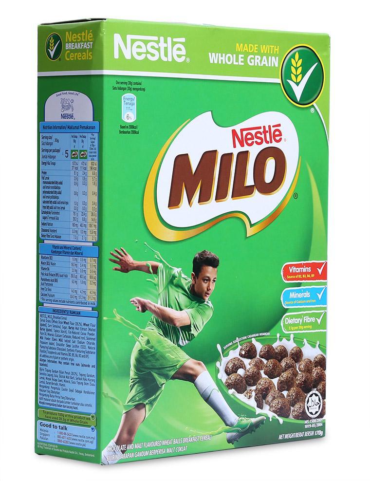 Voucher Giảm Giá Ngũ Cốc Ăn Sáng Nestle Milo Cereal Hộp 170G