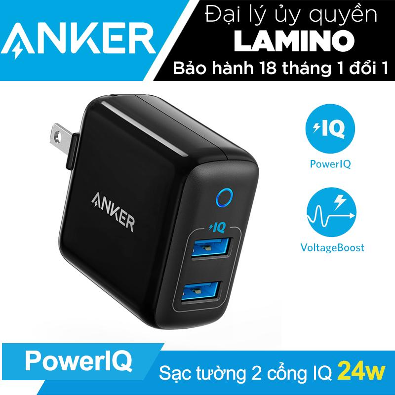 Sạc ANKER PowerPort II 2 cổng 24w PowerIQ - A2027