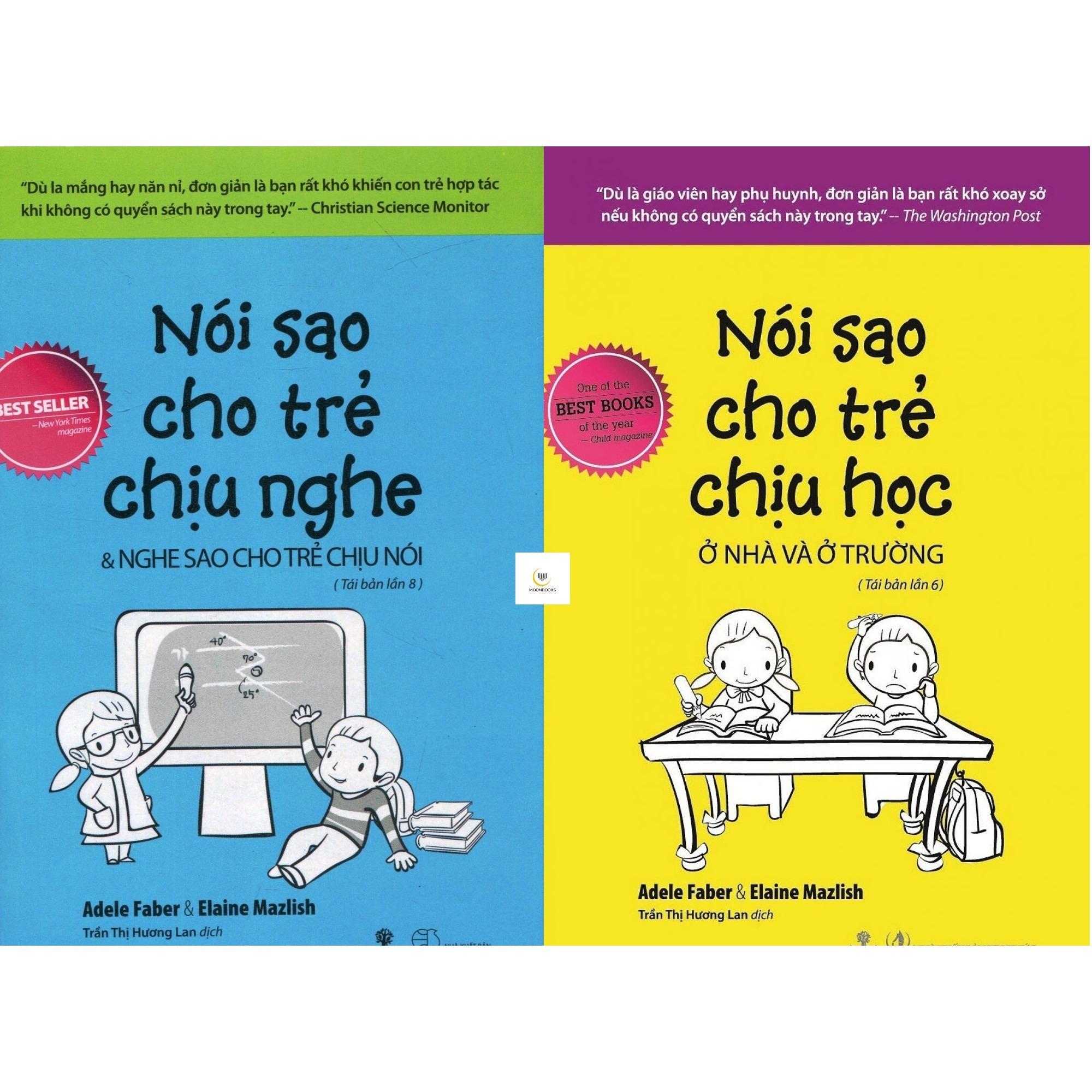 Moonbooks Combo Sach Noi Sao Cho Trẻ Chịu Nghe Noi Sao Cho Trẻ Chịu Học Elaine Mazlish Adele Faber Hà Nội