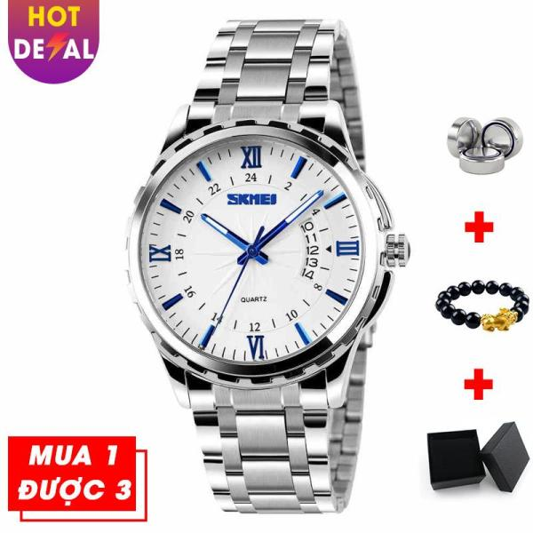 Đồng hồ nam doanh nhân đẳng cấp sang trọng SKMEI VK014 dây thép không gỉ