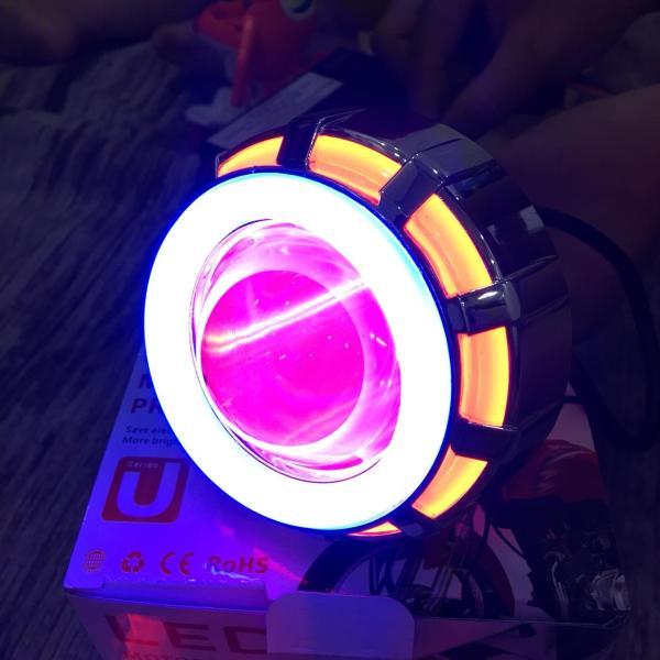 Với thiết kế 2 viền sáng đẹp mắt , đến tản nhiệt làm tăng tuổi thọ của bộ đèn LED U12 độ xe máy đẹp long lanh G89-J3E