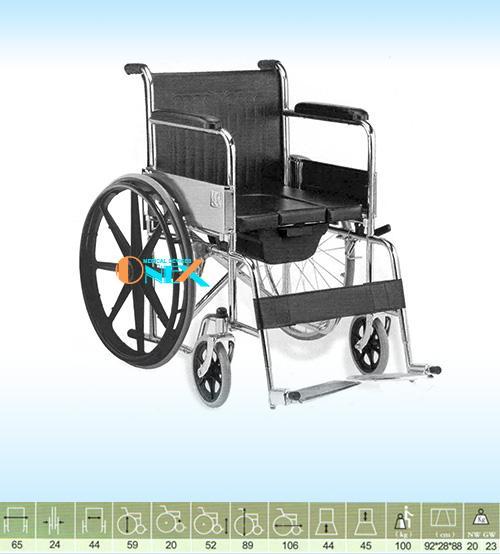 Xe lăn có bô vệ sinh xếp gọn bánh mâm OneX