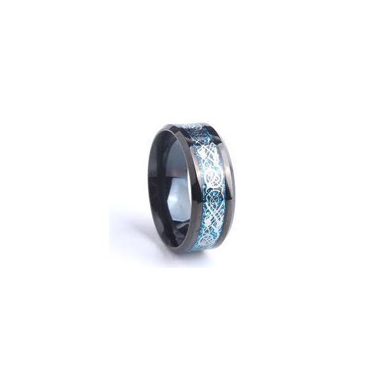 Nhẫn nam titan rồng xanh họa tiết tinh tế hot 2018