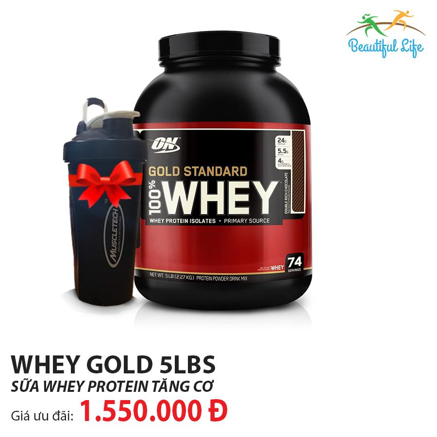 Thực phẩm bổ sung Protein Optimum Nutrition Whey Gold Standard 5Lbs