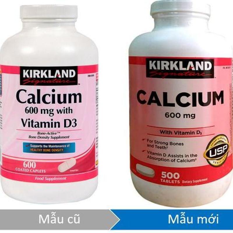 Viên uống bổ sung canxi Kirkland Signature Calcium 600mg + D3 500 viên (hsd 8/2020) nhập khẩu
