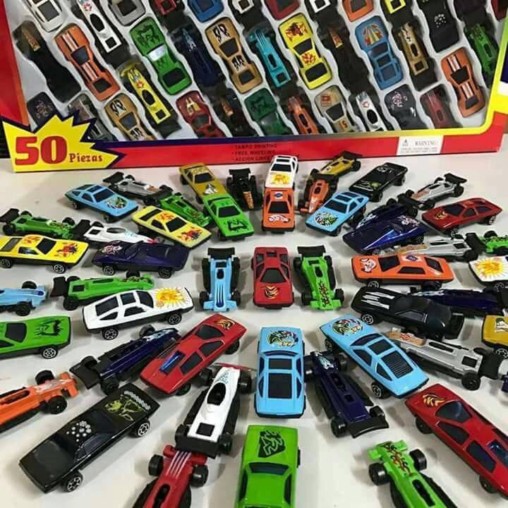 bộ đồ chơi 50 chiếc ô tô - sét 50 ô tô sắt cho bé