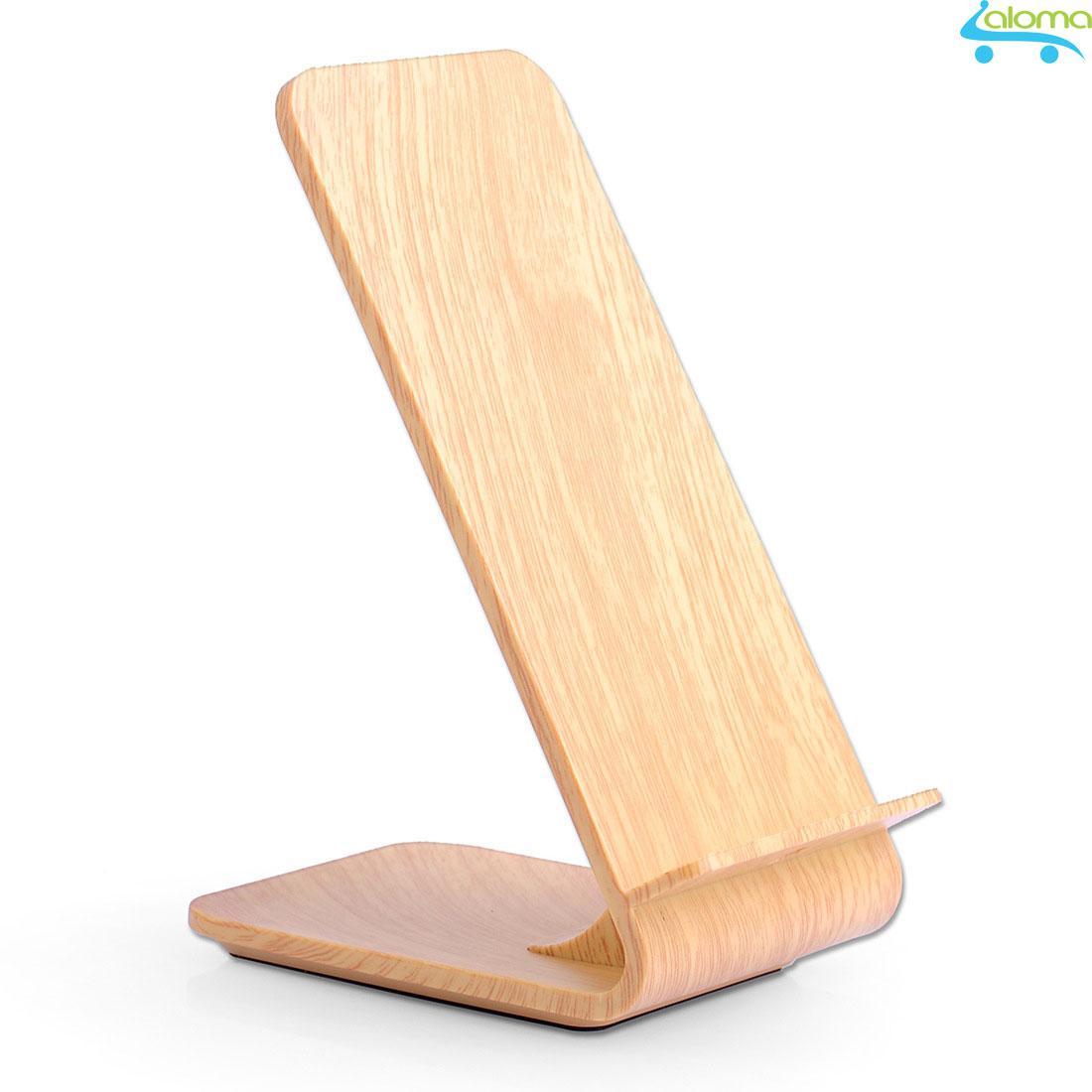Hình ảnh Sạc không dây vỏ gỗ kiểu giá đỡ cho Samsung note 5 trở lên
