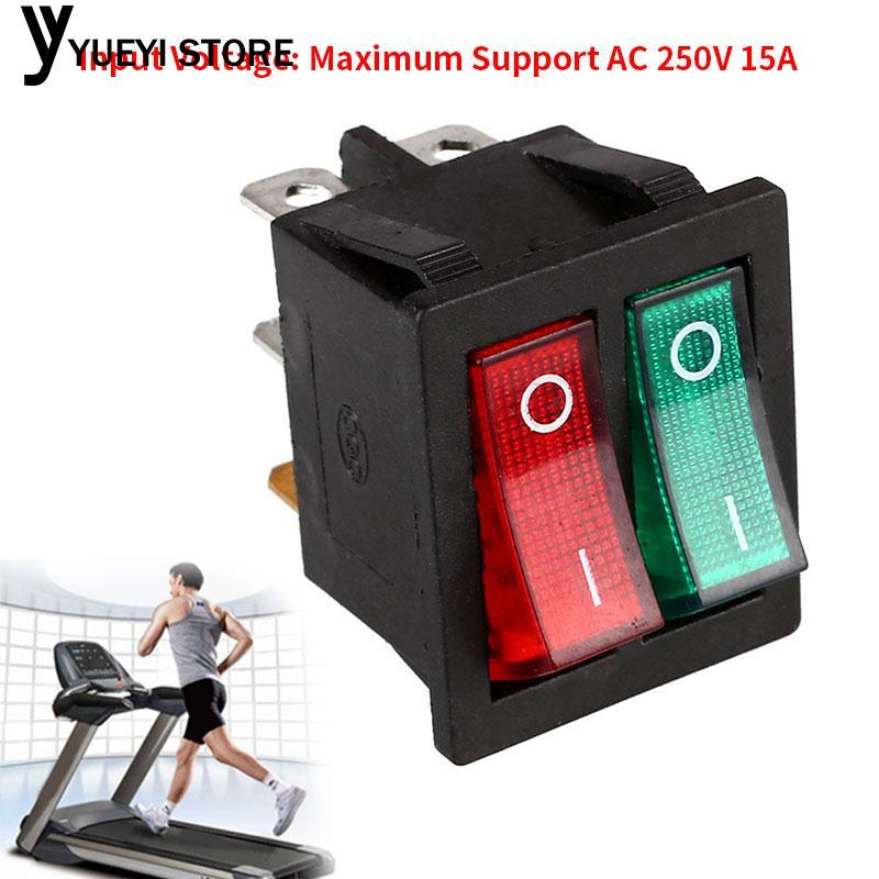 Yysl Double Boat Rocker Switch Red & Green Button Switches Diy By Yueyi Store