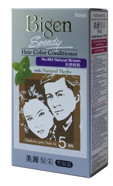 Thuốc nhuộm tóc phủ bạc dạng kem Bigen Speedy Hair Color Conditioner 80ml cao cấp