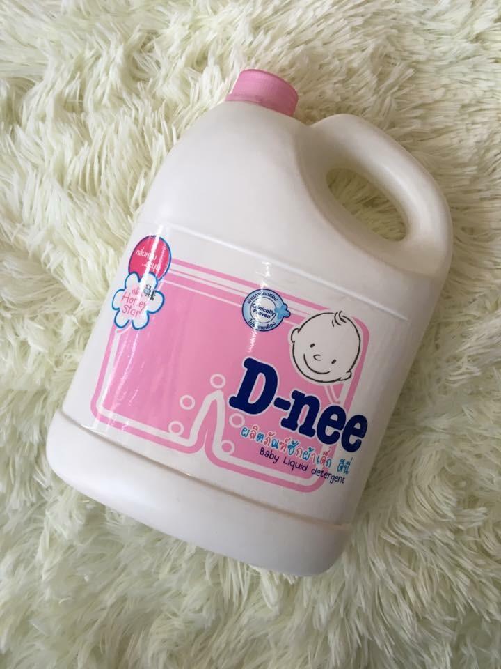 Nước giặt xả quần áo trẻ em Dnee 3000ml Thai Lan (màu hồng) - (Hàng công ty chinh hãng)