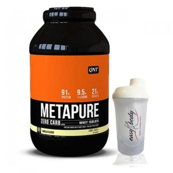 QNT Isolate Whey Protein Zerocarb hương Vani  2Kg tặng bình lắc Trắng