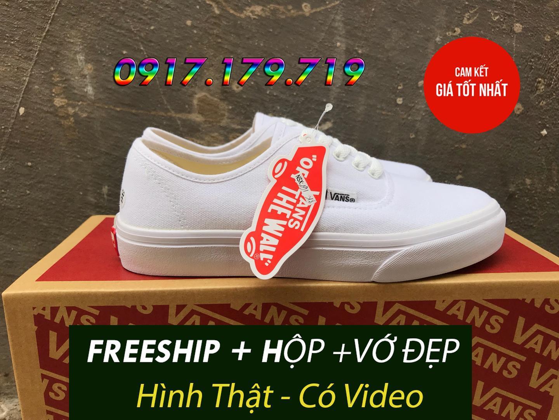 Hình ảnh [TẶNG HỘP+VỚ+FREESHIP] Van Classic Full Trắng Nam Nữ Hàng S.F có video shop quay