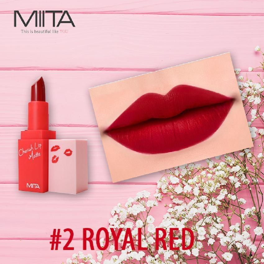 Mua Son Thỏi Li Miita Cherrish Lip Matte Royal Red 02 Mau Đỏ Thẫm