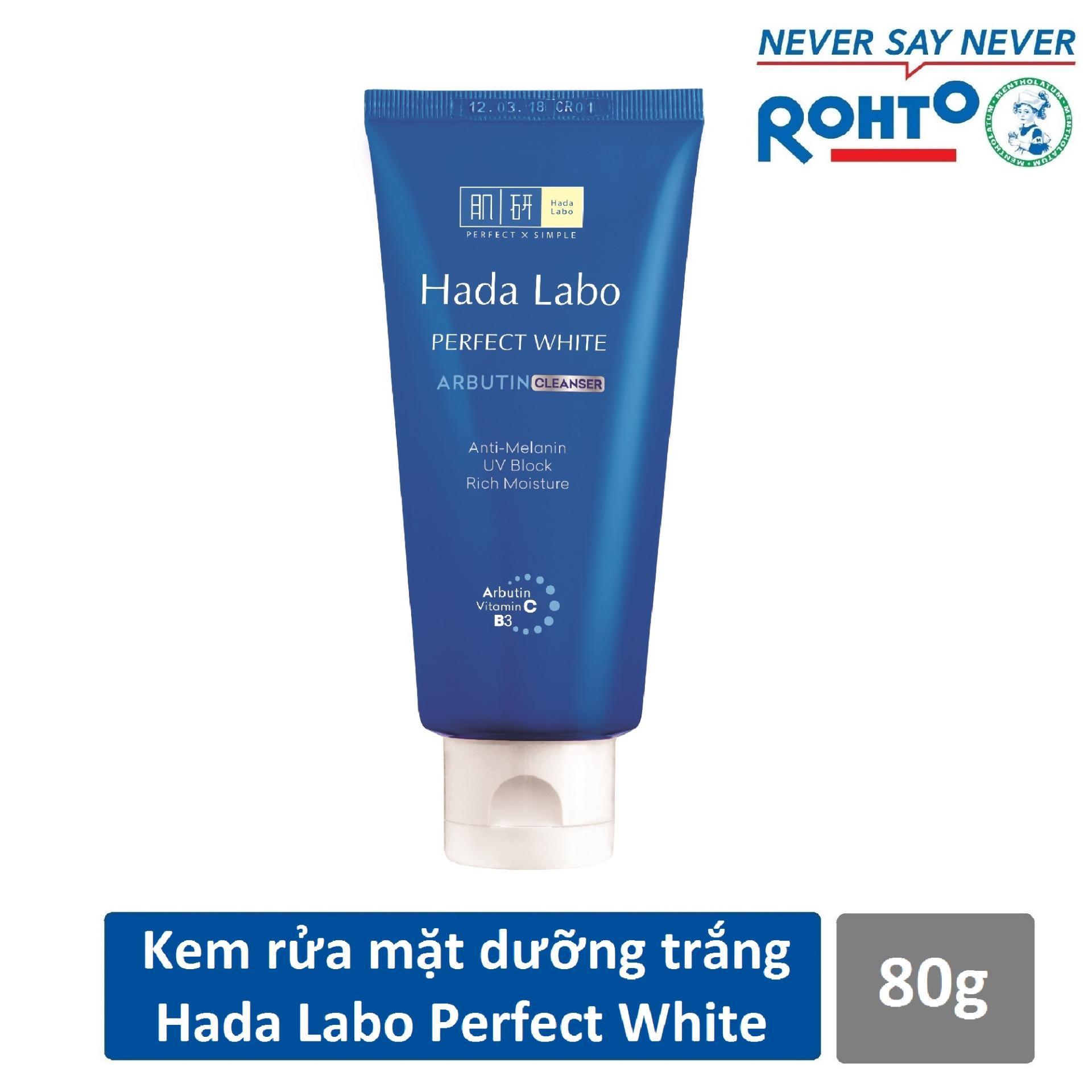 Hình ảnh Kem rửa mặt dưỡng trắng Hada Labo Perfect White Cleanser 80g