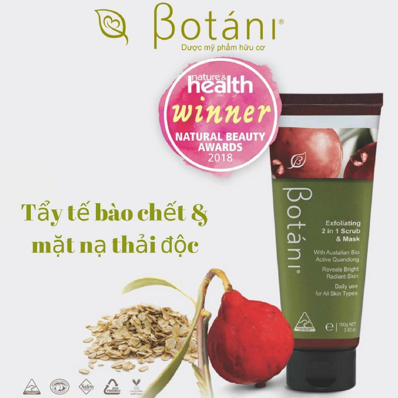 Tẩy Tế Bào Chết Và Mặt Nạ Botani Exfoliating 2 In 1 Scrub & Mask