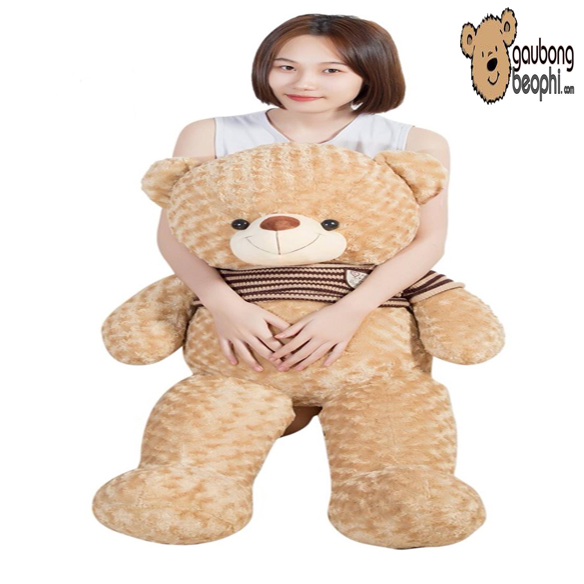 Hình ảnh Gấu bông teddy áo len cao cấp khổ vải 1m2, Shop Gấu Bông Béo Phì, món quà ý nghĩa chuyên dành cho việc tỏ tình, nhân dịp sinh nhật, quà tặng đồ chơi bằng bông an toàn cho bé