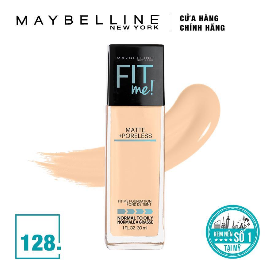 Kem nền mịn lì tiệp màu da Maybelline New York Fit Me! 128 Warm Nude 30ml