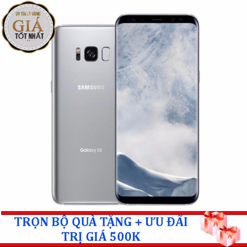 Samsung Galaxy S8  64GB ( Bạc ) - Hàng nhập khẩu + Tặng dán màn hình và ốp Silicon