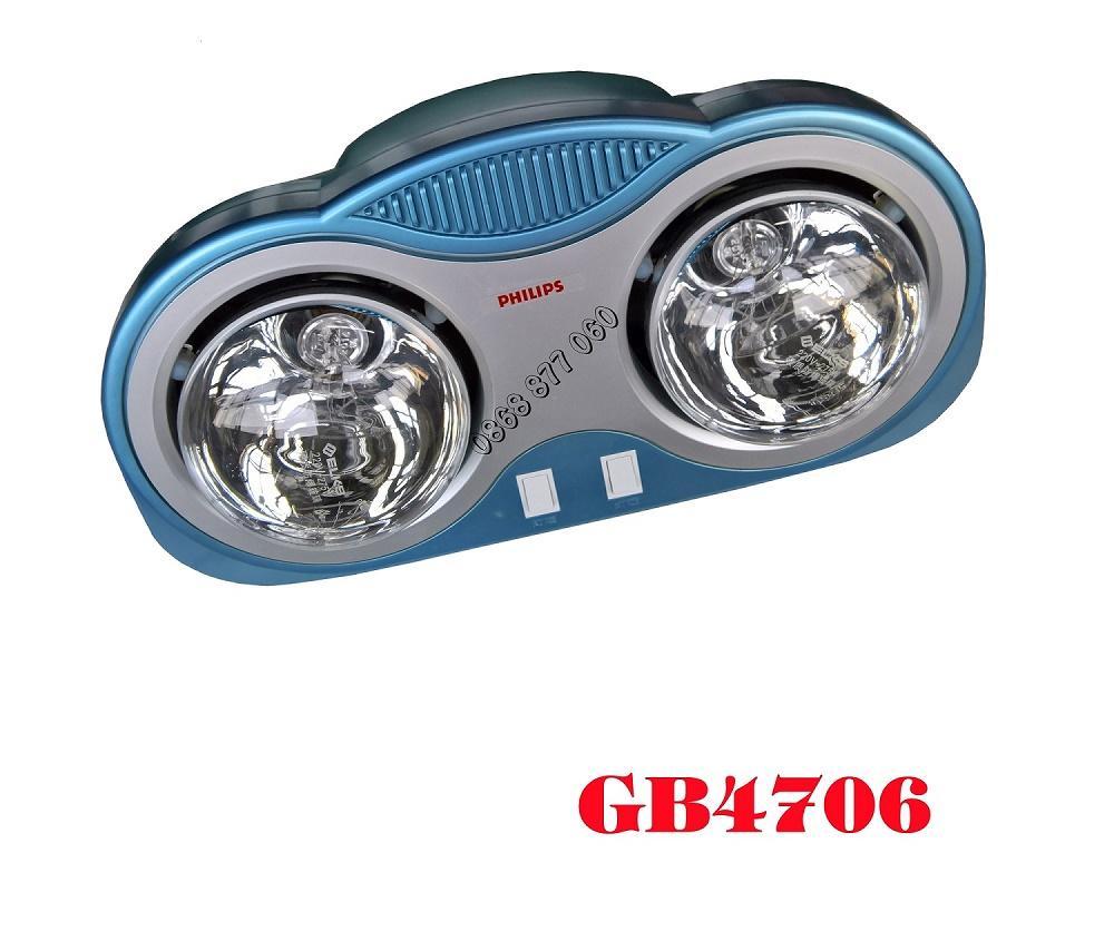 Hình ảnh Đèn sưởi nhà tắm 2 bóng Philips GB4706