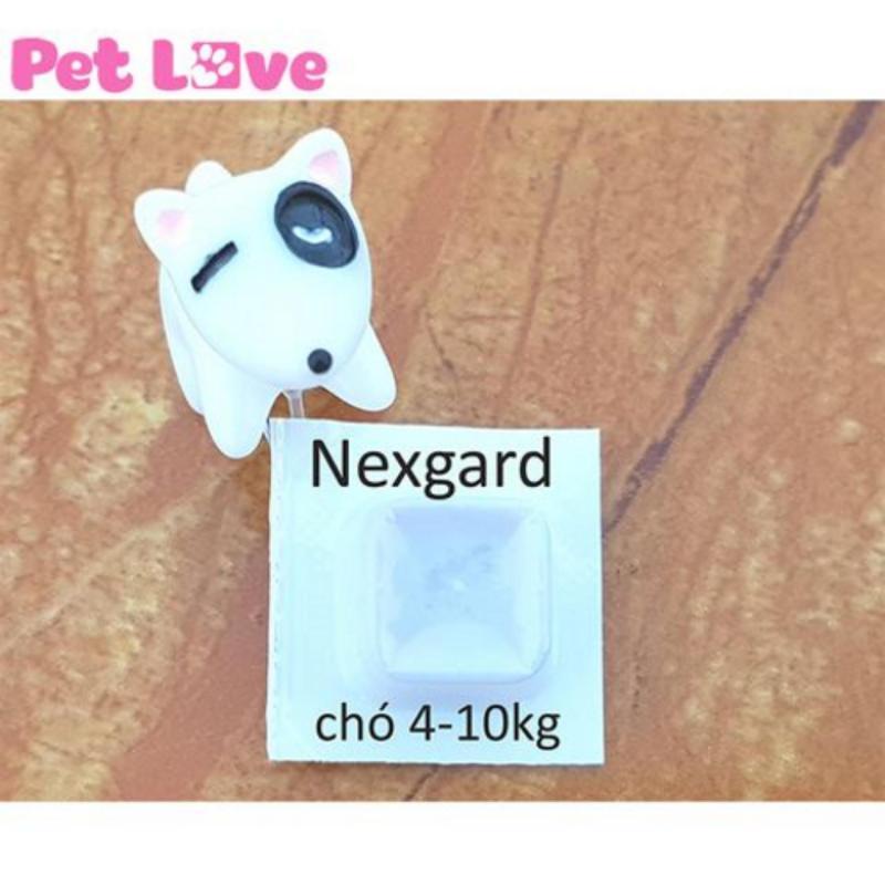 1 viên thuốc NexGard trị ghẻ, viêm da, ve rận (chó từ 4 - 10kg)