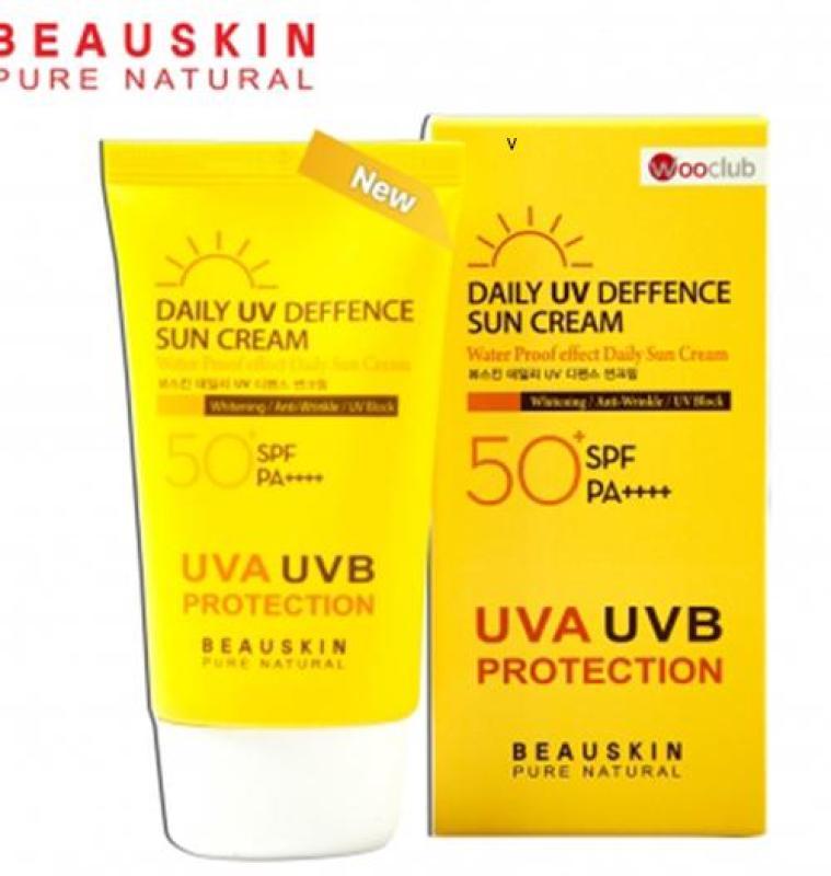 Kem chống nắng Beauskin Daily Deffence Sun Cream kiểm soát dầu, chống nước Hàn Quốc 50ml giá rẻ