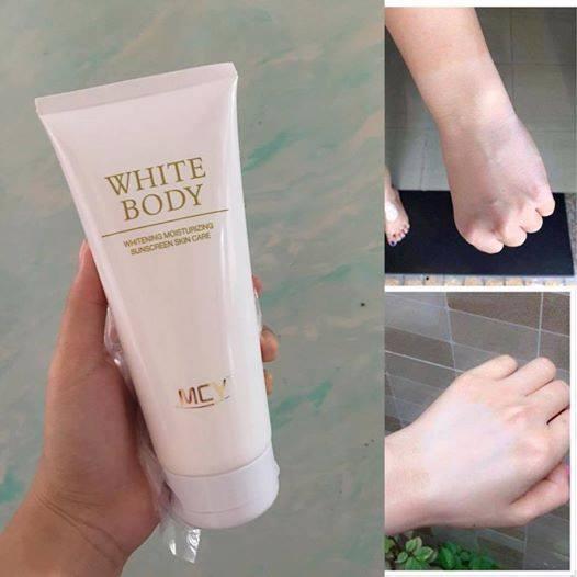 Hình ảnh Kem dưỡng trắng White body MCY 200ml trắng