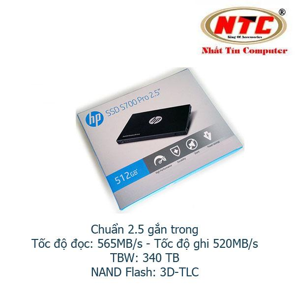 Ổ Cứng SSD gắn trong HP S700 Pro 512GB SATA III 2.5in - Box Anh (đen)