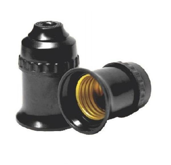 Bảng giá [HCM]2 Đui đèn E27 tiêu chuẩn 220V Đen
