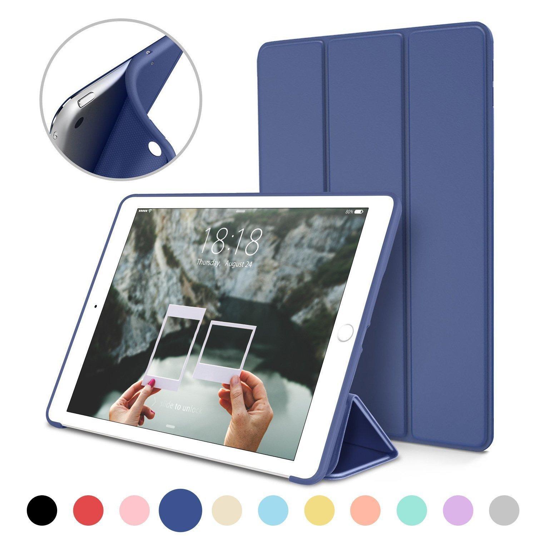 Hình ảnh Bao da silicone dẻo PKCB - Smart cover dành cho iPad Mini 123/ iPad Mini 4/ iPad Air/ iPad Air 2/ iPad New 2017/ iPad Pro 9.7/ iPad 234/ iPad Pro 10.5