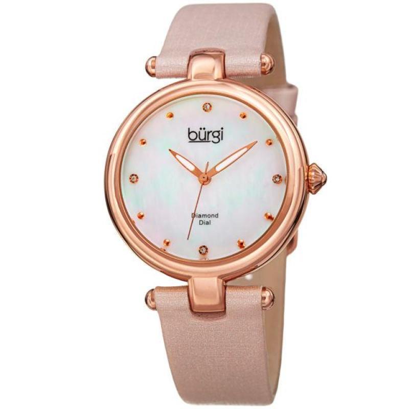Nơi bán Đồng hồ nữ Burgi BR169 Mother of Peal Rose Gold mặt vàng hồng khảm xà cừ